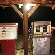 """The film adaptation of Cheryl Strayed's memoir, """"Wild,"""" stars Reese Witherspoon as a troubled woman who challenges herself by hiking the Pacific Crest Trail in Oregon. The Alfalfa Store in tiny Alfalfa, Ore., features in the movie. Gas pumps at the store."""