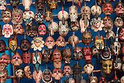 GUATEMALA, MARKETS Chichicastenango; dance masks