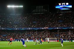 Samir Nasri of Sevilla is challenged by Wilfred Ndidi of Leicester City - Rogan Thomson/JMP - 22/02/2017 - FOOTBALL - Estadio Ramon Sanchez Pizjuan - Seville, Spain - Sevilla FC v Leicester City - UEFA Champions League Round of 16, 1st Leg.