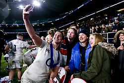 Sarah Hunter of England Women celebrates winning the Women's Six Nations and Grand Slam - Mandatory by-line: Robbie Stephenson/JMP - 16/03/2019 - RUGBY - Twickenham Stadium - London, England - England Women v Scotland Women - Women's Six Nations