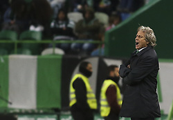 December 1, 2017 - Lisbon, Portugal - Sporting's coach Jorge Jesus reacts during the Portuguese League  football match between Sporting CP and CF Belenenses at Jose Alvalade  Stadium in Lisbon on December 1, 2017. (Credit Image: © Carlos Costa/NurPhoto via ZUMA Press)