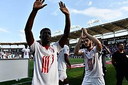 May 6, 2018 - Toulouse, France - Joue fin de match joueurs de Lille (Credit Image: © Panoramic via ZUMA Press)