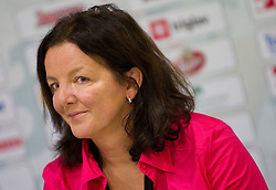 Head coach Marta Bon during press conference of handball team RK Krim Mercator before new season 2010-2011, on September 29, 2010 in M-Hotel, Ljubljana, Slovenia. (Photo By Vid Ponikvar / Sportida.com)
