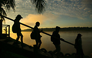 The Madre De Dios River in the Amazon jungle of Puerto Maldonado, Peru has become heavily polluted due to illegal gold mining on the river. Frank Ski Kids spent three days on the river, learning about the pollution and brainstorming ideas on how to help.