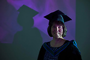 """18/04/2017 REPRO FREE:  <br /> MFA Graduate Sherry Erskine at the 13th conferring ceremony, held in the Minstrels gallery the 16th century Newtown Castle at the heart of the BCA campus, exemplifies the continued success of the Burren's  alternative model of art education . The Irish and  international graduates included Elizabeth Matthews, conferred with  a PhD for her research on Utopian studies , and six international graduates whose work on display in the BCA gallery addressed the ultimate question, """"who am I called to be"""" In her address President of the college Mary Hawkes Greene referred to the unique place based educational  model  committed to  individual student centred  education accredited by NUIGalway , and how it effectively  embraces the often conflicting forces of the global and the local, the public and the private as well as the collective and the individual. <br /> .  Photo:Andrew Downes, xposure"""