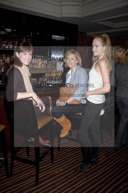 Left to right, LADY ROSE INNES-KER, LADY ALEXANDRA SPENCER-CHURCHILL and LADY ELOISE ANSON at a lunch hosted by Ralph Lauren to present their Spring 2007 collection in support of the Serpentine Gallery's Education Programme, held at Fifty, 50 St.James's Street, London SW1 on 20th March 2007.<br /><br />NON EXCLUSIVE - WORLD RIGHTS