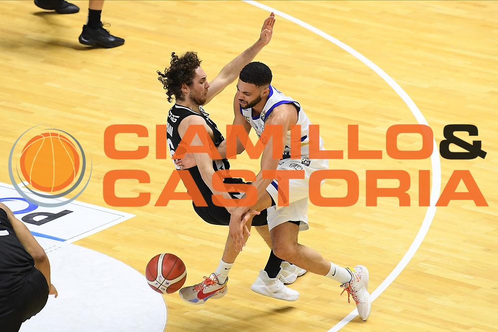 Pajola Alessandro , Thompson Darius<br /> Happy Casa Brindisi - Segafredo Virtus Bologna<br /> Semifinali - Gara 2<br /> Legabasket Serie A UnipolSAI 2020/2021<br /> Brindisi, 25/05/2021<br /> Foto GiulioCiamillo/ Ciamillo-Castoria