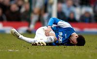 Photo: Richard Lane.<br />Birmingham City v West Bromwich Albion. The Barclays Premiership. 11/03/2006. <br />Birmingham's Jermaine Pennant lies injured.