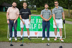 CARDIFF, WALES - Tuesday, August 13, 2019: Andrew Davies, Marcus Mordey, James Ford and Ian Gough during the Football Association of Wales' Golf Day at the Vale Resort. (Pic by Mark Hawkins/Propaganda)