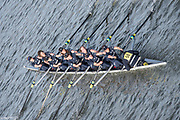 Chiswick. London. Saturday. 23.01.2016. Oxford University Women's Boat Club competing in the Quintin Head. River Thames.   [Mandatory Credit: Peter Spurrier/Intersport-images.com