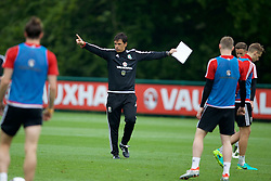 CARDIFF, WALES - Saturday, June 4, 2016: Wales' manager Chris Coleman during a training session at the Vale Resort Hotel ahead of the International Friendly match against Sweden. (Pic by David Rawcliffe/Propaganda)