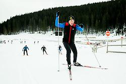 Luka Bozic of Slovenian Kayak Canoe National Team at Winter training of Cross country and Biathlon, on January 7, 2015 in Rudno polje, Pokljuka, Slovenia.  Photo by Vid Ponikvar / Sportida