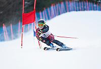 Giant slalom race at Gunstock with St. Paul's School Alpine Team.   ©2014 Karen Bobotas Photographer