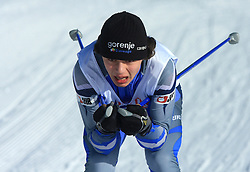 Slovenian cross-country skier Gregor Levstek at 10th OPA - Continental Cup 2008-2009, on January 17, 2009, in Rogla, Slovenia.  (Photo by Vid Ponikvar / Sportida)
