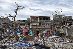 JEREMIE, Oct. 7, 2016 (Xinhua) -- Image provided by the United Nations Stabilization Mission in Haiti shows villagers saving their belongings after the pass of Hurricane Matthew in Jeremie city, Haiti, Oct. 6, 2016. Haiti was hit hardest by Hurricane Matthew in the Caribbean region with more than 271 people reported dead as of Thursday evening. (Xinhua/Logan Abassi/UN/MINUSTAH) (jg) (fnc) ***MANDATORY CREDIT*** ***NO ARCHIVE*** ***NOT FOR SALES*** ***FOR EDITORIAL USE ONLY* (Credit Image: © [E]Logan Abassi/Un/Minustah/Xinhua via ZUMA Wire)
