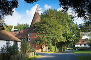Quaint attractive village of Smarden with traditional Kentish  oast house in High Weald in Kent, England, UK