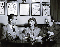 1949 (L to R) Robert Cobb, Rita Hayworth & Paul Whitman at the Hollywood Brown Derby restaurant