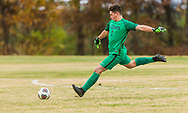 Webster Grove's Preston Haney winds up during a Class 3 Sectional soccer match on Tuesday, Nov. 6, 2018, at Saint Louis Priory School in Creve Coeur, Mo.  Gordon Radford   Special to STLhighschoolsports.com