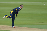 Hampshire all-rounder Will Smith bowling during the Royal London One Day Cup match between Hampshire County Cricket Club and Essex County Cricket Club at the Ageas Bowl, Southampton, United Kingdom on 5 June 2016. Photo by David Vokes.