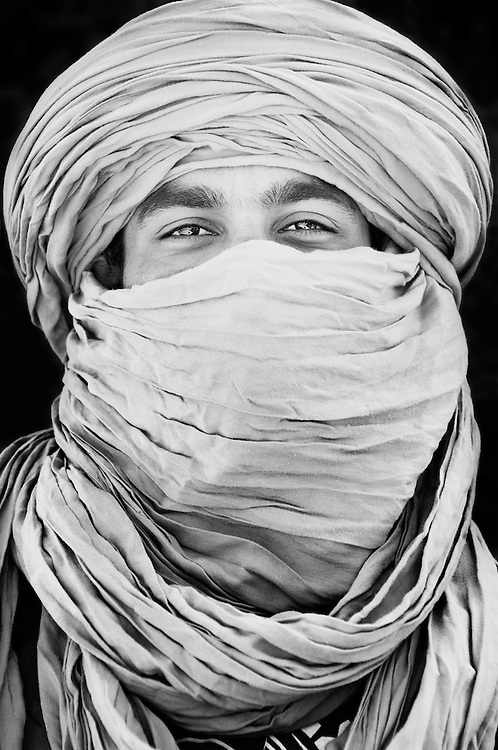 Portrait of a young Moroccan man.