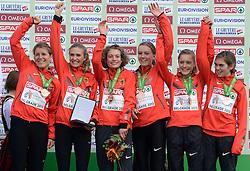 08-12-2013 ATHLETICS: SPAR EC CROSS COUNTRY: BELGRADE<br /> Junior women 4 km / Brons voor Duitsland<br /> ©2013-WWW.FOTOHOOGENDOORN.NL