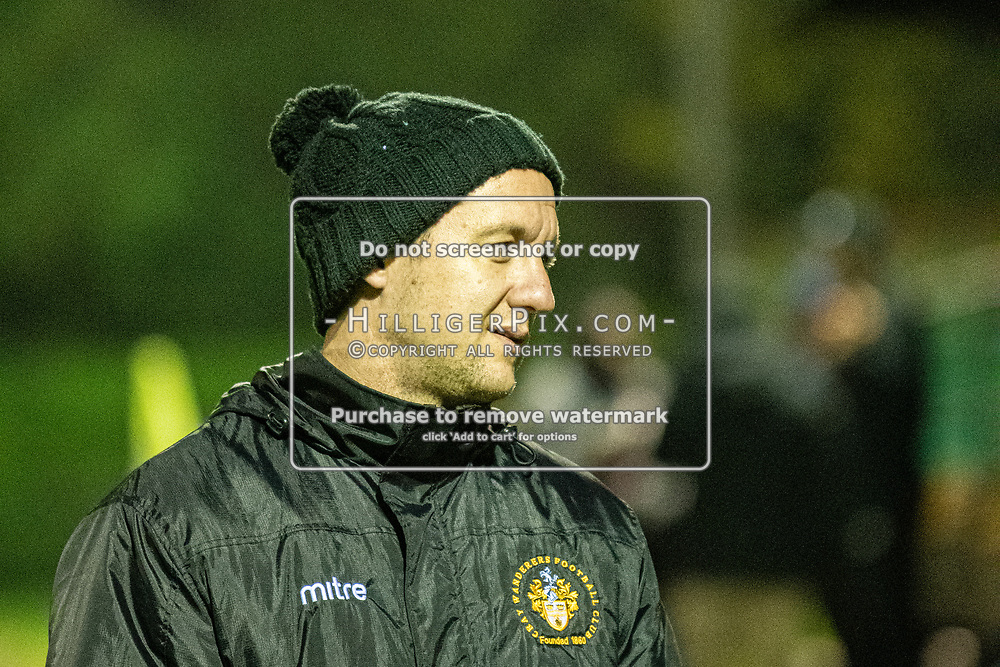 MERSTHAM, UK - OCTOBER 15: Tony Russell, Manager of Cray Wanderers FC,  after the BetVictor Isthmian Premier League match between Merstham and Cray Wanderers at The Whisky Bible Stadium on October 15, 2019 in Merstham, UK. <br /> (Photo: Jon Hilliger)