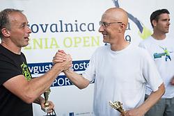Edi Sep, snemalec POP TV in Robert Kukovica, SPORT TV, Drzavno prvenstvo novinarjev v tenisu 2019, on June 12, 2019 in Tivoli, Ljubljana, Slovenia. Photo by Saso Pahic Szabo / Sportida