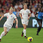 England forward Bethany England (9) is seen during the first match of the 2020 She Believes Cup soccer tournament at Exploria Stadium on 5 March 2020 in Orlando, Florida USA.