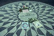 New York. central park. Imagine  John Lenon memorial in central park, (strawberry fields)  New York, Manhattan  Usa /  Imagine - John Lenon memorial / central park, - strawberry fields - Manhatan, New York  USa