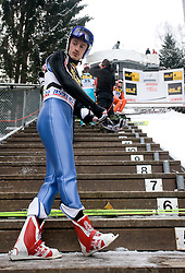Adam Malysz of Poland during Trial round of the FIS Ski Jumping World Cup event of the 58th Four Hills ski jumping tournament, on January 6, 2010 in Bischofshofen, Austria. (Photo by Vid Ponikvar / Sportida)