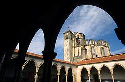 Europe, Portugal, Tomar. Convento de Cristo (16th century), viewed through arch