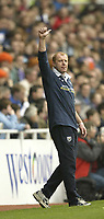 Photo Aidan Ellis, Digitalsport<br /> NORWAY ONLY<br /> <br /> Reading v West Bromwich Albion.<br /> Nationwide Divison 1.<br /> 01/05/2004.<br /> West Brom manager Gary Megson salutes the West Brom fans