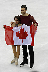 February 15, 2018 - Pyeongchang, KOREA - Meagan Duhamel and Eric Radford of Canada after competing in pairs free skating during the Pyeongchang 2018 Olympic Winter Games at Gangneung Ice Arena. (Credit Image: © David McIntyre via ZUMA Wire)