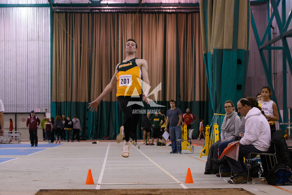 2nd year Cougar Ty Pederson in action during the Larmer Friendship Games on December 3 at Regina Field House. Credit Matt Johnson/Arthur Images