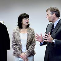 Nederland, Amsterdam, 8 november 2010..Hoofdofficier van Justitie Herman Bolhaar en aanklaagster Jolien Ang.Foto:Jean-Pierre Jans