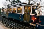 Trieste, tramvia di Opicina, linea tramviaria con tratta funicolare. Trieste, Opicina tram, funicular tram line.