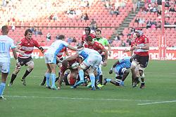 14-07-18 Johannesburg. Emirates Airlines Park. Emirates Lions vs Vodacom Blue Bulls.<br /> 2nd half. Loose scrum<br /> Picture: Karen Sandison/African News Agency (ANA)