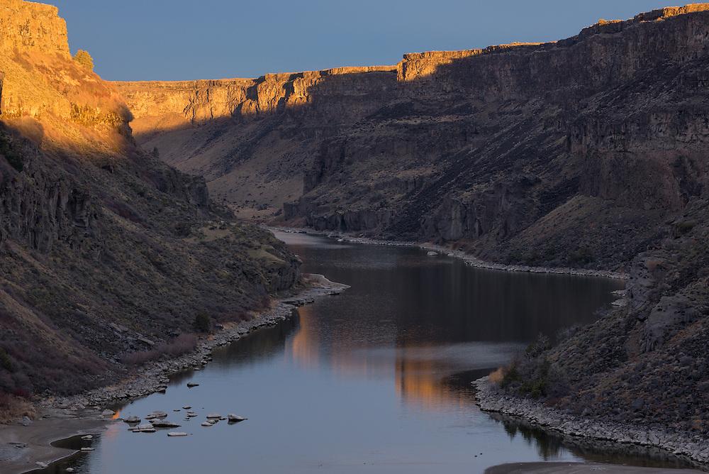 The Snake River, below Shoshone Falls, Idaho.