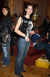 OCTAVIA KHASHOGGI at a fashion show featuring the Miss Selfridge Autumn/Winter '05 collections held at The Wallace Collection, Manchester Square, London W1 on 6th April 2005.<br />