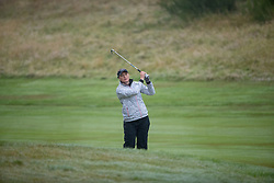 Sweden's Cajsa Parsson plays her approach to the 18th hole during her semi final match with Great Britain this morning during day eleven of the 2018 European Championships at Gleneagles PGA Centenary Course. PRESS ASSOCIATION Photo. Picture date: Sunday August 12, 2018. See PA story GOLF European. Photo credit should read: Kenny Smith/PA Wire. RESTRICTIONS: Editorial use only, no commercial use without prior permission