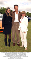 Actor RICHARD E GRANT with his wife and daughter OLIVIA GRANT , at a polo match in Surrey on 11th May 2003.	PJK 5