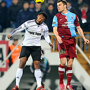 Besiktas's Manuel FERNANDES (L) and Trabzonspor's Pawel BROZEK (R) during their Turkey Cup Group B matchday 5 soccer match Besiktas between Trabzonspor at the Inonu stadium in Istanbul Turkey on Wednesday 26 January 2011. Photo by TURKPIX