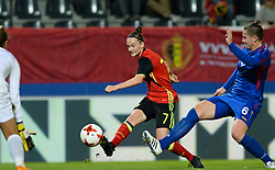 September 19, 2017 - Heverlee, BELGIUM - Belgium's Elke Van Gorp pictured in action during a soccer game between Belgium's Red Flames and the Republic of Moldova, a qualification match for the women's World Cup 2019 Tuesday 19 September 2017, in Heverlee, Leuven. BELGA PHOTO DAVID CATRY (Credit Image: © David Catry/Belga via ZUMA Press)