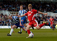 Photo: Jed Wee.<br />Hartlepool United v Bristol City. Coca Cola League 1. 15/04/2006.<br /><br />Bristol City's David Noble scores the opening goal.
