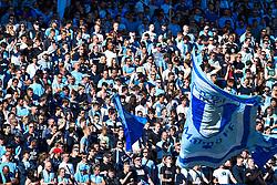 May 20, 2018 - MalmÃ, SVERIGE - 180520 Malmö FFs supportrar inför fotbollsmatchen i Allsvenskan mellan Malmö FF och Häcken den 20 maj 2018 i Malmà (Credit Image: © Christian ÖRnberg/Bildbyran via ZUMA Press)