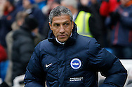 Brighton & Hove Albion manager Chris Hughton during the EFL Sky Bet Championship match between Brighton and Hove Albion and Burton Albion at the American Express Community Stadium, Brighton and Hove, England on 11 February 2017. Photo by Richard Holmes.