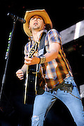 Jason Aldean performs on May 13, 2011at Verizon Wireless Amphitheater in St. Louis, Missouri. © 2011 Todd Owyoung.