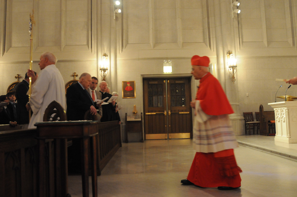 Chicago Archbishop Francis Cardinal George presents the Certificates and Insignia of the Equestrian Order of St. Gregory the Great during a Morning Prayer at the St. James Chapel at the Archbishop Quigley Center, June 23, 2012. The Papal honor is recommended by a local Bishop to recognize meritorious service to the church. The honorees include Archdiocese of Chicago Chancellor Jimmy Lago, Finance Council Vice Chair James Denny, and the Cardinal's legal counsel James Serritella. l Brian J. Morowczynski~ViaPhotos<br /><br />For use in a single edition of Catholic New World Publications, Archdiocese of Chicago. Further use and/or distribution may be negotiated separately. <br /><br />Contact ViaPhotos at 708-602-0449 or email brian@viaphotos.com.