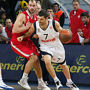 Fenerbahce Ulker's Omer ONAN (R) during their Euroleague Basketball Top 16 Game 5 match Fenerbahce Ulker between Olympiacos at Sinan Erdem Arena in Istanbul, Turkey, Thursday, February 24, 2011. Photo by TURKPIX