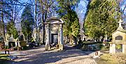 Cmentarz Rakowicki w Krakowie. nagrobek słynnego polskiego malarza Jana Matejki.